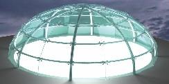 עבודות זכוכית של שבירו לחיפוי תקרה יוקרתי בצורת בועה