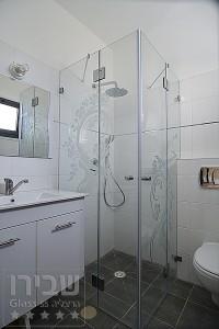 מקלחון פינתי שתי דלתות מורכבות על שני קבועים SHM-10
