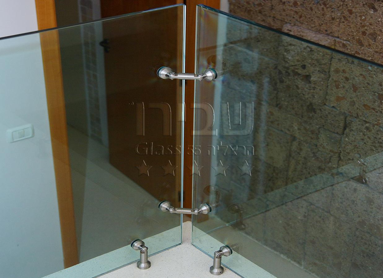 עיגוני מעקה זכוכית במפרקי מנט 2