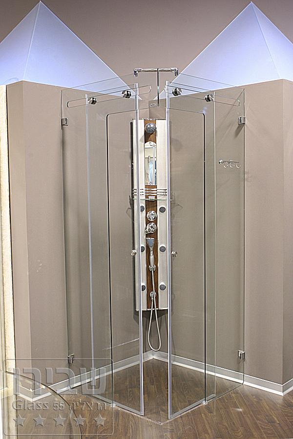 מקלחון הזזה CNC פינתי
