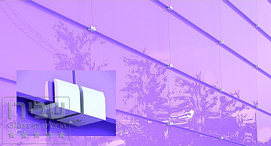 חיפויים מזכוכית לקירות חיצוניים -מניפה