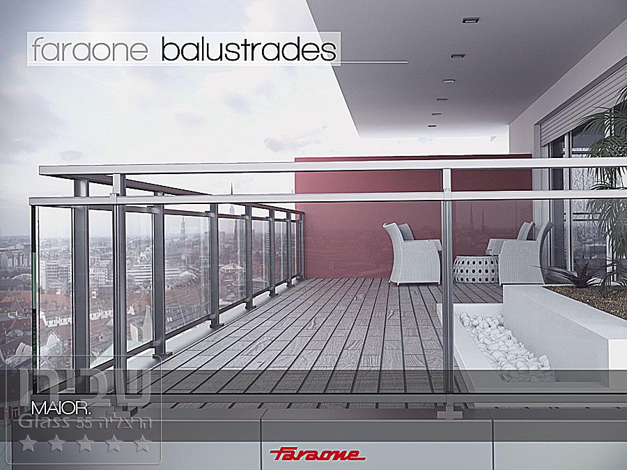 מעקה זכוכית למרפסת מלבני ואיכותי של שבירו גלאס