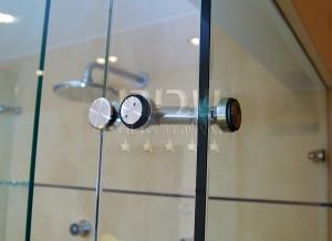 חמיכת מפרק מנט למקלחון זכוכית של שבירו