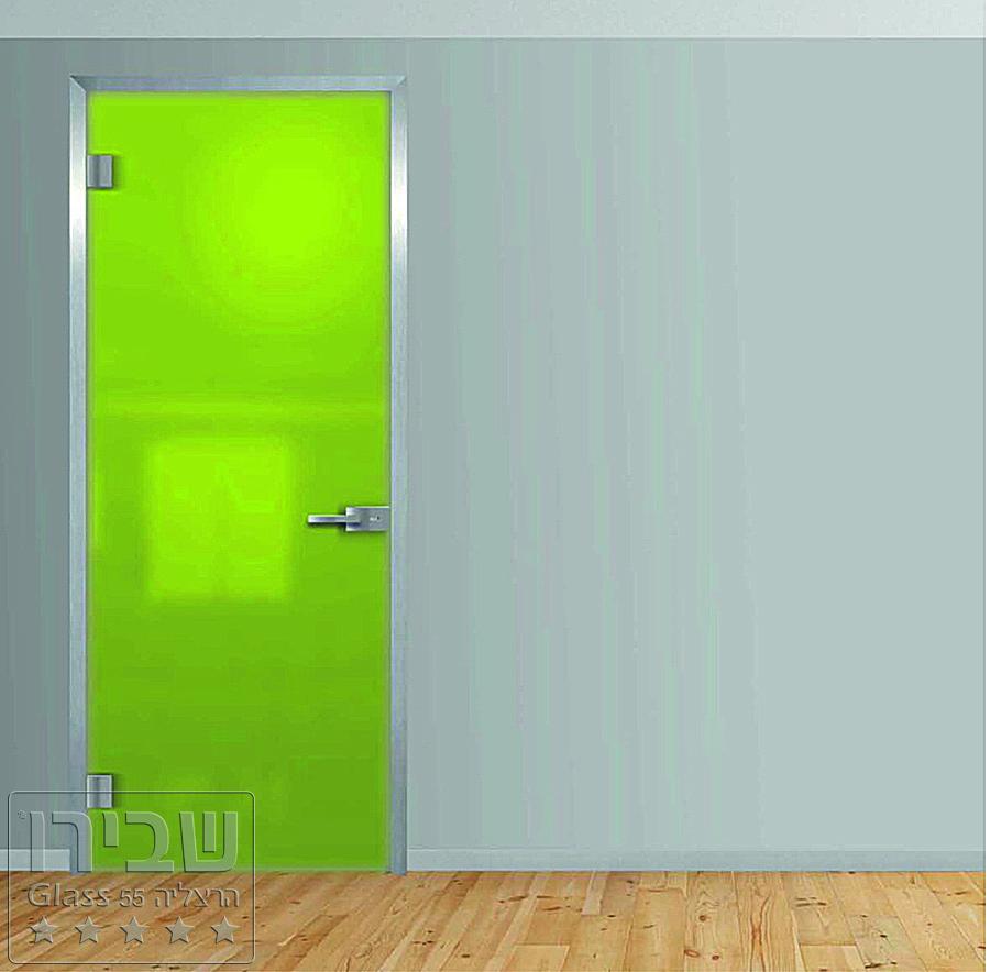 דלת זכוכית ירוקה אקוסטית