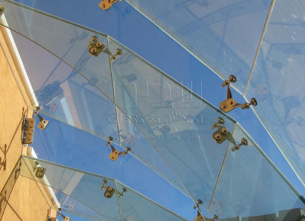 גגונים בעיגון ספיידרים מזכוכית