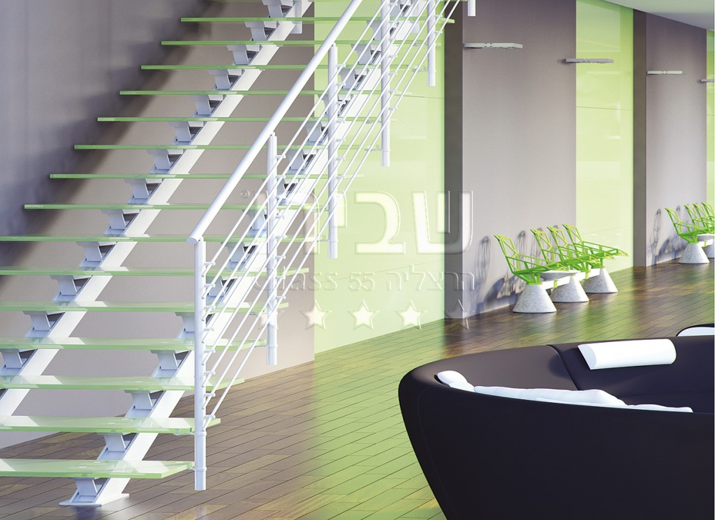 גרמי מדרגות זכוכית