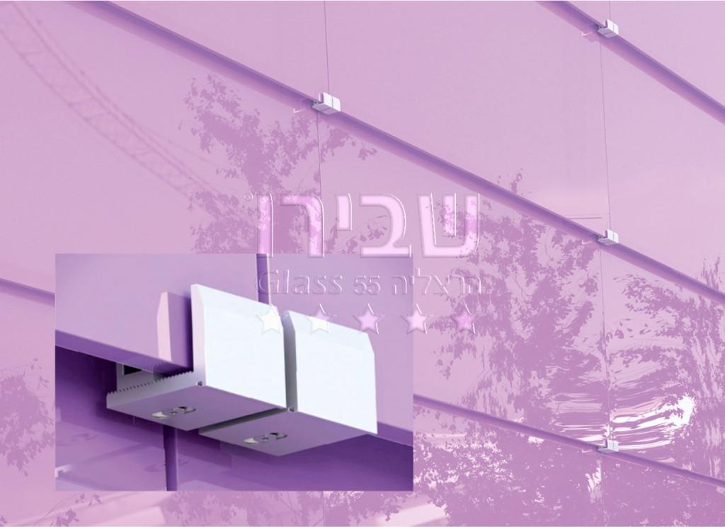 חיפוי חוץ לבניין עם צבע קרמי מערכת מניפה מזכוכית