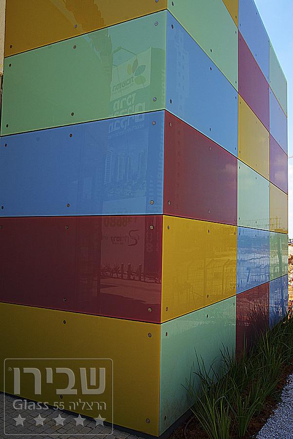 חיפוי זכוכית לקיר קרמי לכיסוי חיצוני של מבנים