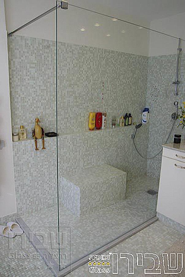מקלחון מיוחד מזכוכית קבוע + עיגון לקיר SHM-42