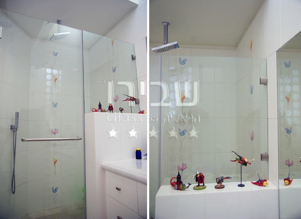 מקלחון חזית קבוע + דלת