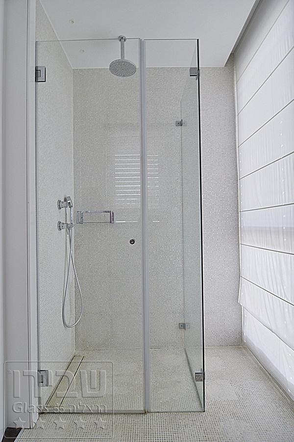 מקלחון פינתי קבוע + קבוע קטו+ דלת מחוברת לקיר SHM-8