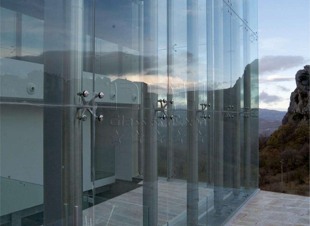 קירות מסך ספיידרים מזכוכית חסינה