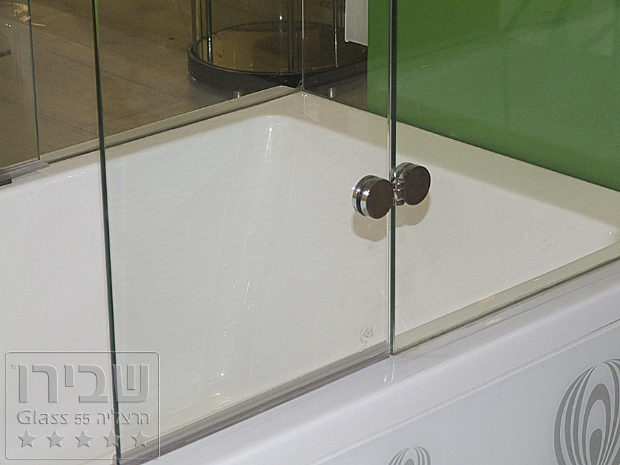 אמבטיון הזזה זכוכית שקופה