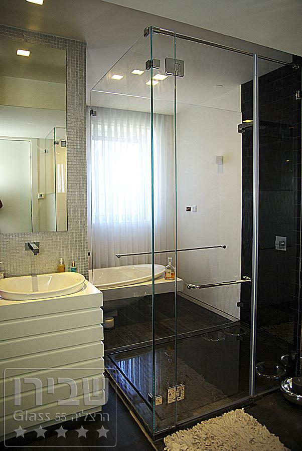 עיצוב מקלחונים מזכוכית לבית פרטי